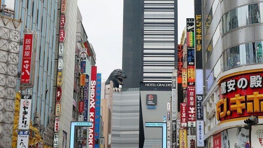Estatua de Godzilla. Shinjuku. Tokio.