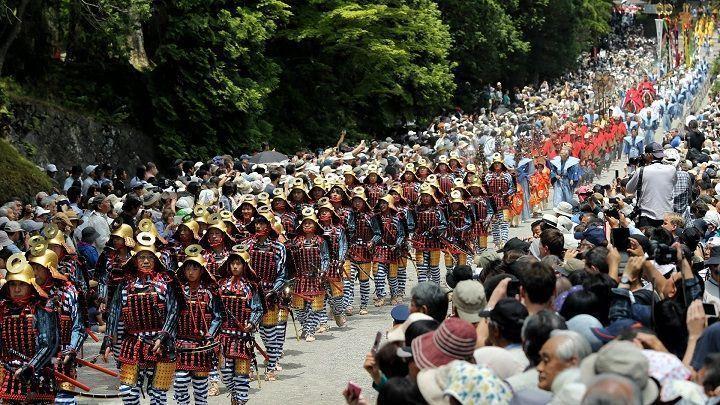 Festival del Santuario Toshogu. Japón en primavera