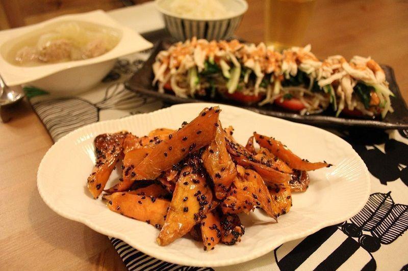 gastronomía de japón en otoño