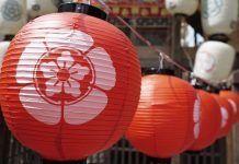 Templo de kioto Japón en verano