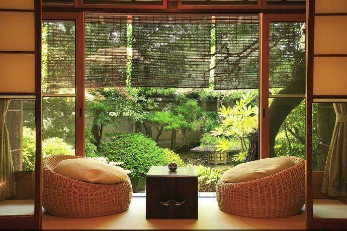 Alojamientos tradicionales en Japón.