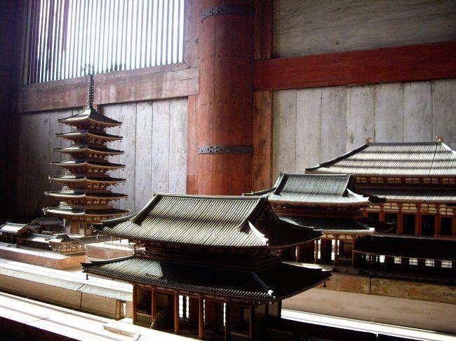 maqueta del templo Todaiji de Nara