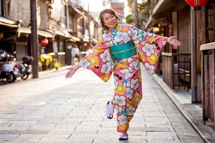 Kimono. Kioto