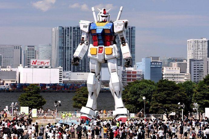 Odaiba. Gundam. Qué ver y hacer en Japón.