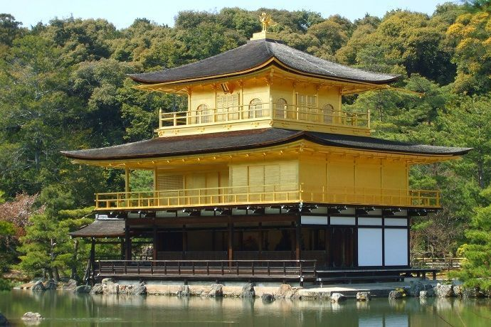 Pabellón dorado de Kioto (kinkakuji).