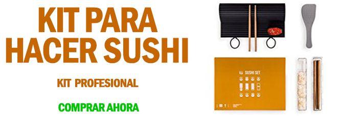 kit para hacer sushi profesional