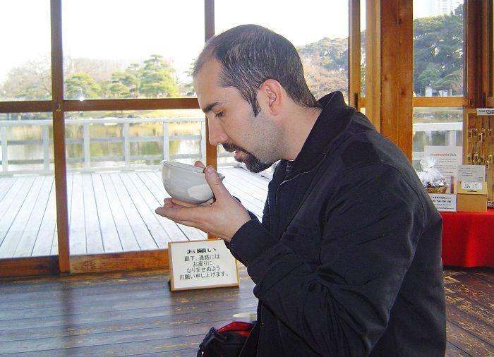 utensilios de la ceremonia del té en Japón