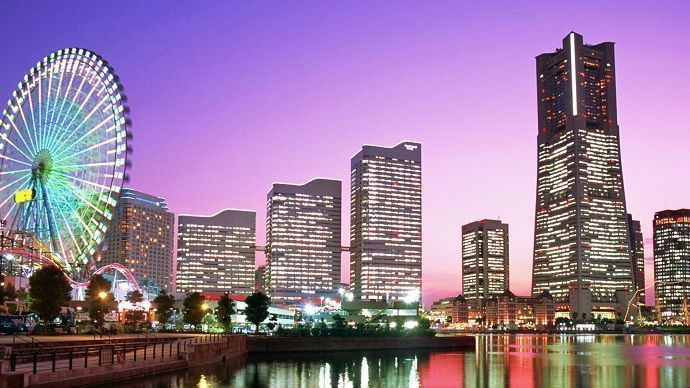 Excursión a Kamakura y Yokohama. Vista de Yokohama.