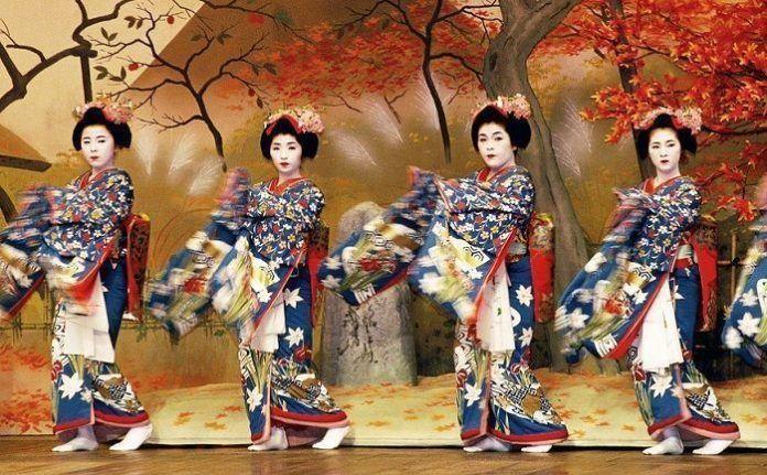 Festival Miyako Odori primavera