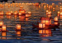 Aniversario de la bomba de Hiroshima. Tōrō nagashi