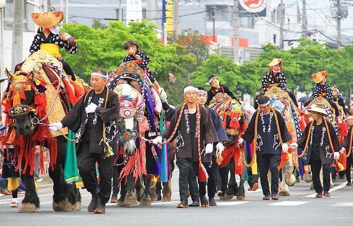 Festival de los caballos de Takizawa. Chagu Chagu Humakko.
