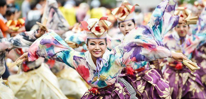 Harajuku Omotesando Super Yosakoi Festival de baile