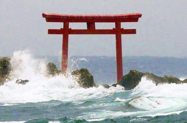 Torii aguantando un tifón 2014