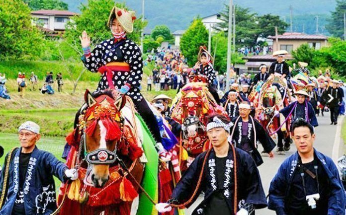 Festival de los caballos de Takizawa Chagu Chagu Humakko.