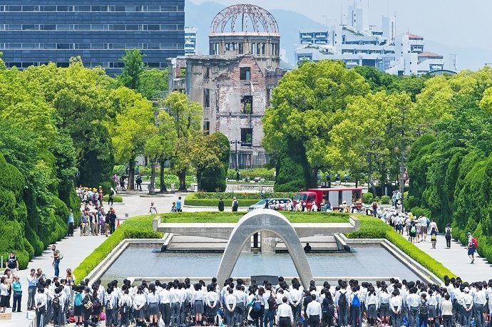 Tour por hiroshima. Parque Conmemorativo de la Paz. Hiroshima.