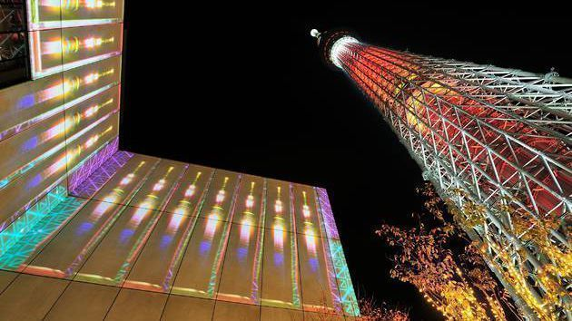 Tokyo Skytree en Navidad
