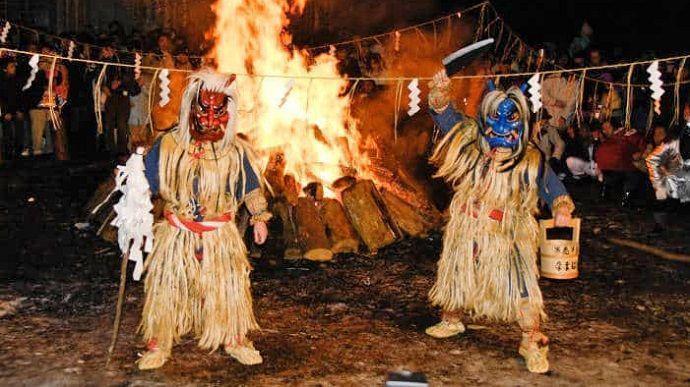 Viajar a Japón en Navidad. festival Oga, Namahage Matsuri.