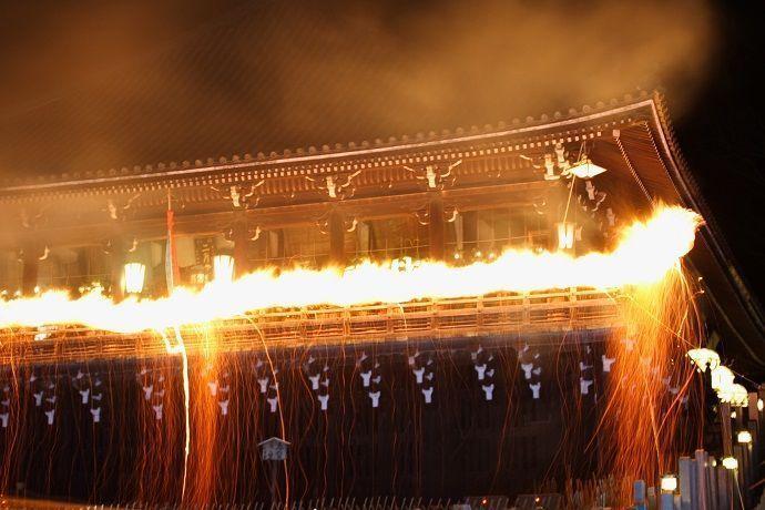 Omizutori. Ceremonia de Japón en marzo.