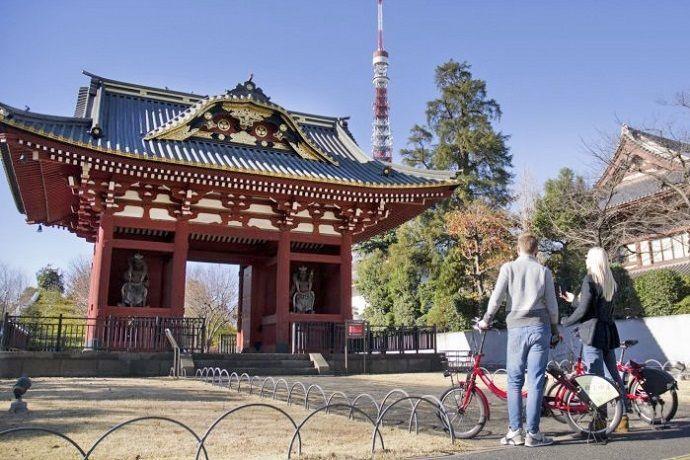 Hacer turismo por Tokio en Bicicleta.