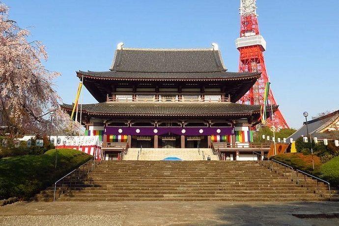 Templo zojoji. Los mejores templos y santuarios de Tokio.