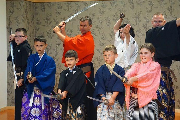 Clases de Kembu con katana en Kioto.