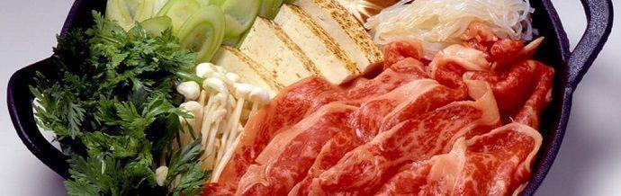 Sukiyaki es un plato japonés. Gastronomía japonesa.