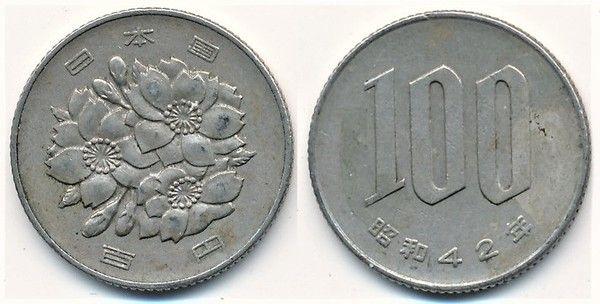 Moneda de 100 yenes japoneses