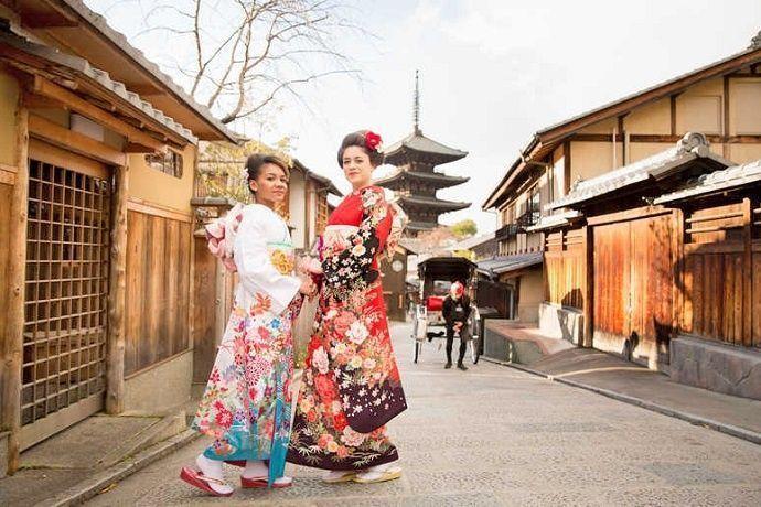 Pasear con Kimono en Japón