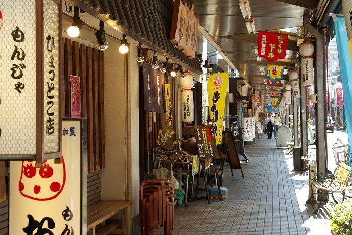 Calle del Monjayaki en Tsukishima