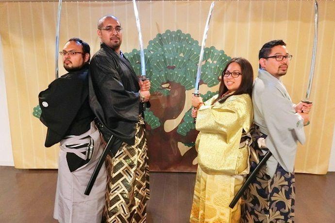 Muestra samurái en Tokio