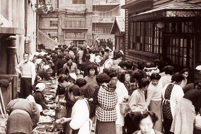 Calle comercial de Hashima