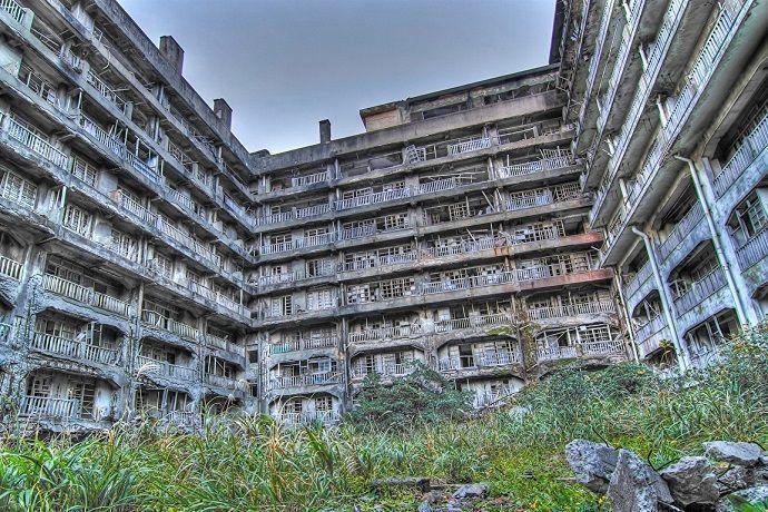 Edificios en ruina de Hashima