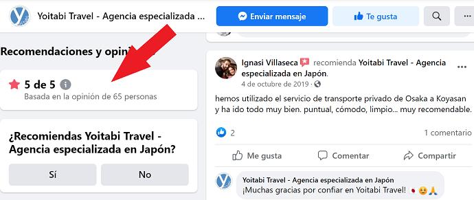 Opiniones Yoitabi Travel