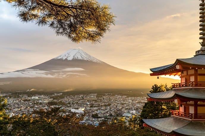 símbolo de Japón Monte Fuji