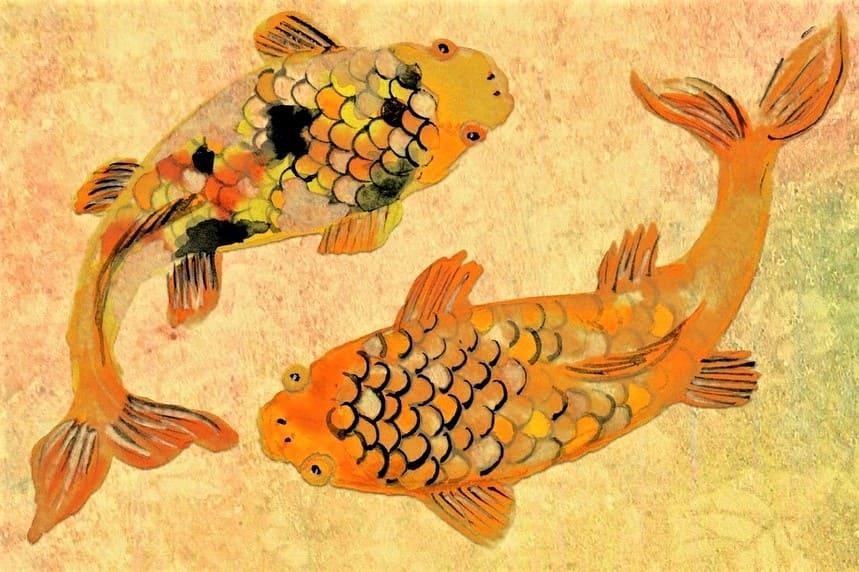 Símbolo de Japón Peces Koi